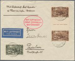 Zeppelinpost Deutschland: 1930, SAAR / OSTPREUSSENFAHRT: Wundervoller Brief Etappe FHFN-KÖNIGSBERG M - Luftpost