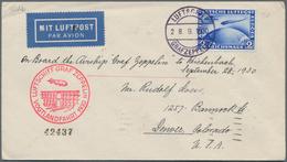 Zeppelinpost Deutschland: 1930, VOGTLANDFAHRT: Wunderbarer Bordpostbrief (Stempel Type IIIa) Mit Son - Luftpost