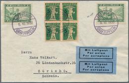 Zeppelinpost Deutschland: 1930, LEIPZIG-FAHRT/SCHWEIZ-BODENSEE, Bordpostbrief 5.10.30 Adressiert Nac - Luftpost