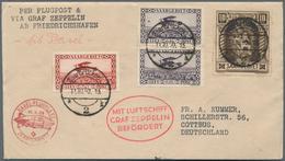 Zeppelinpost Deutschland: 1930, SAAR/LANDUNGSFAHRT NACH BERN U. BASEL: Vertragsstaatenbrief FHFN-BAS - Luftpost