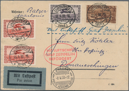 Zeppelinpost Deutschland: 1930, SAAR/SCHWEIZFAHRT/Abwurf LAUSANNE: Attraktive Vertragsstaatenkarte M - Luftpost