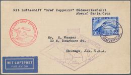 Zeppelinpost Deutschland: 1930 SÜDAMERIKAFAHRT:Bordpostkarte 19.5., Abwurf PRAIA (ASt.), Mi. 438, We - Luftpost