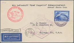Zeppelinpost Deutschland: 1930, SÜDAMERIKAFAHRT: Bordpostkarte 19.5.30, Abwurf PRAIA (ASt.), Mi. 438 - Luftpost