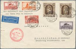 Zeppelinpost Deutschland: 1930: SAAR/SÜDAMERIKAFAHRT 1930: Schönfrankierter Brief Mit 2x 10 Fr Madon - Luftpost