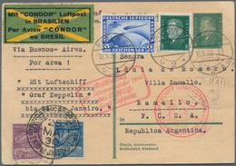 Zeppelinpost Deutschland: 1930, Südamerikafahrt, Anschlussflug Ab Berlin Bis Rio, Ganzsachenkarte Mi - Luftpost