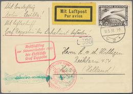 Zeppelinpost Deutschland: 1930. German Postcard Flown On The Graf Zeppelin LZ127 Airship's 1930 Süda - Luftpost