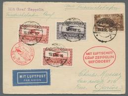 Zeppelinpost Deutschland: 1930 - Zuleitung Saar Zur Landungsfahrt Nach Genf, Portorichtig Frankierte - Luftpost