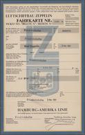 """Zeppelinpost Deutschland: 1931, Fahrkarte Der """"Luftschiffbau Zeppelin"""" Für Eine Fahrt """"Friedrichshaf - Luftpost"""