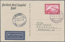Zeppelinpost Deutschland: 1931, Bordpost 10.5. Nach Nürnberg Mit 1 RM Zeppelin - Luftpost
