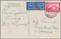 Zeppelinpost Deutschland: 1931 Rare Nuernberg-Friedrichshafen Leg Bordpost Franked With 1RM Zeppelin - Luftpost