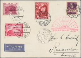 """Zeppelinpost Deutschland: 1931, 1 Mark ZEPPELIN POLARFAHRT """"ohne Bindestrich"""" Auf 4-Länderkarte Mit - Luftpost"""