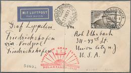 Zeppelinpost Deutschland: 1931 German Cover Franked With The 4RM Zeppelin Polarfahrt Sent On The Gra - Luftpost