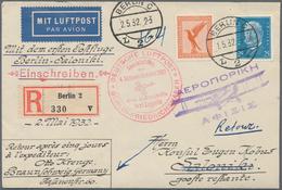 Zeppelinpost Deutschland: 1932, Erster Postflug Berlin - Saloniki - Athen, Brief Ab Berlin 1.5.32 Na - Luftpost