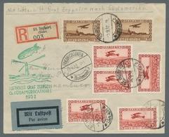 Zeppelinpost Deutschland: 1932 - Zuleitung Saar Zur 6. SAF, Portorichtig Und Ausschließlich Mit Flug - Luftpost