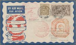 Zeppelinpost Deutschland: 1932, Anschlußflug Zur 9. SAF Aus Berlin, Zuleitung Aus Großbritannien Mit - Luftpost