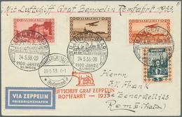 Zeppelinpost Deutschland: 1933, SAAR, ILLINGEN 1100 JAHRE: Aufgabe-Sonderstempel Zur Zeppelin ROMFAH - Luftpost