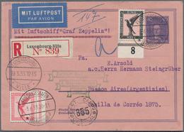 Zeppelinpost Deutschland: 1933, LUXEMBURG/2. SAF 1933, 40 Pf. Leipnis Rohrpostkurvert RU 12 + DR Mi. - Luftpost