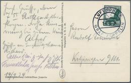 Zeppelinpost Deutschland: 1934, LZ 127, 398. Fahrt, F'hafen - Frankfurt, Bordpost 14.9., Passagier-P - Luftpost