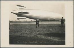 Zeppelinpost Deutschland: 400. Fahrt 1934, Frankfurt - F'hafen, Bordpost 14.9., Post Von Besatzungsm - Luftpost