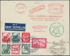 """Zeppelinpost Deutschland: 1934, LZ 127 Weihnachtsfahrt: Boardpost-Luxusbrief Mit Stempel """"d"""" Und Bor - Luftpost"""
