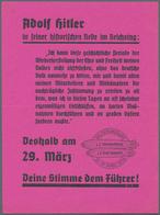 Zeppelinpost Deutschland: 1936, LZ 129 DEUTSCHLANDFAHRT-Besonderheiten: 5 Verschiedene Propagandazet - Luftpost