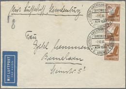 Zeppelinpost Deutschland: 1936, LZ 129 HINDENBURG: Dem Luftschiff Mitgegebener (m. 3x DR Mi 533) D. - Luftpost