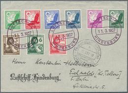 Zeppelinpost Deutschland: 1937, UDET-FAHRT: Hindenburg Luftschiffkuvert Mit Seltenem Inhalt LS-Brief - Luftpost