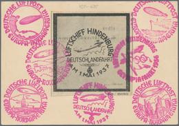 Zeppelinpost Deutschland: 1937, DEUTSCHLANDFAHRT, Abwurf Köln: Bordpostkarte M. Ausfall- Und Bestäti - Luftpost