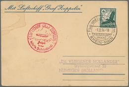 Zeppelinpost Deutschland: 1936 Absolutely Unusual Card From The Graf Zeppelin II LZ130 Airship's 193 - Luftpost