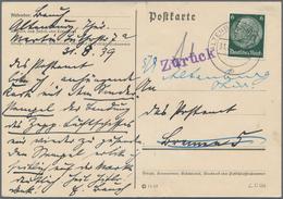 """Zeppelinpost Deutschland: 1939, LZ 130/BREMENFAHRT: Geplant, Wegen Kriegsausbruch Ausgefallen, Ab """"A - Luftpost"""
