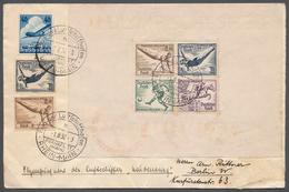Zeppelinpost Deutschland: 1.8.1936, Olympia-Blocks Jeweils Mit Zusatzfrankatur Auf Briefen Von Frank - Luftpost