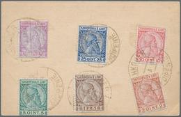Albanien: 1913, 2 Q - 50 Q Definitives 'Skanderbeg', Complete Set Of Six Values, Franked On Reverse - Albanien