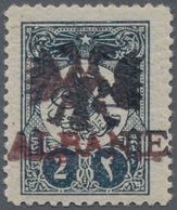 Albanien: 1913, Ottoman Empire, 2 Pia Deep Blue (Mi.163), Applied For An Essay Of The Overprint With - Albanien