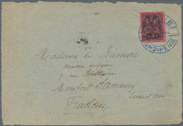 Albanien: 1913, 1 Pia Black On Rose With 'double Eagle' Overprint, Tied By Cds VLONE/SHQIPENIE, (..) - Albanien