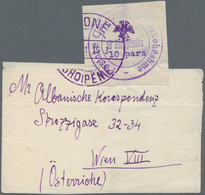 Albanien: 1913, 10 Pa Violet 'handstamp Issue', Single Franking On Wrapper From (VL)ONE, (..)11.1913 - Albanien