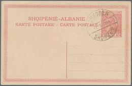 Albanien: 1913, Definitives Skanderberg, 2q.-1fr., Complete Set Of Six Values Each On Piece Neatly C - Albanien