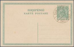 Albanien: 1913, Definitives Skanderberg, 2q.-1fr., Complete Set Of Six Values On Piece Neatly Cancel - Albanien