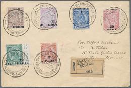 Albanien: 1914, 5 Para To 20 Para + 5 Grosh Normal Overprint And 1 Grosh + 5 Grosh Inverted Overprin - Albanien
