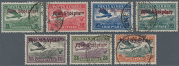 Albanien: 1929, Airmail Overprints, 5q.-3fr., Complete Set Of Seven Values, Fresh Colours And Well P - Albanien