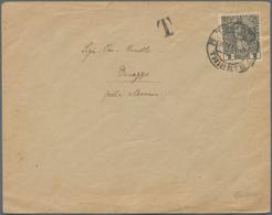 Albanien - Portomarken: 1914, Austria, 1 H Black Definitive 'jubilee', Single Franking On Underpaid - Albanien