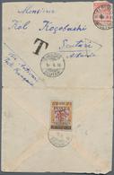 "Albanien - Portomarken: 1919, 20q. On 2kr. Orange Oblit. ""SCUTARI 10.6.19"" On Reverse Of Insufficien - Albanien"