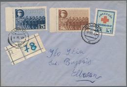 Albanien - Zwangszuschlagsmarken: 1949, Red Cross 1l. Blue/red/pale Green Used On Registered Cover W - Albanien