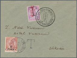 Albanien - Lokalausgaben: SHKODER, 1915, Albania 5 Pa On 2 Q Red-brown/yellow, Single Franking On Un - Albanien
