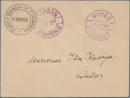 Albanien - Ganzsachen: 1913. ELBASAN Local Issue: Cover (144x109 Mm) With Official Seal, But Without - Albanien