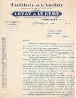 Lettre Commerciale De Leray Et Le Démé, Distillerie De La Vectière à Mantilly (Orne) 18/5/1948 - France