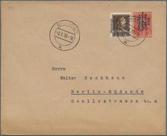 Albanien - Ganzsachen: 1939, 10 Q Brick-red Overprint Postal Stationery Cover With Additional Franki - Albanien