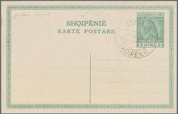 Albanien - Stempel: 1918, 5 Quint Blank Stationery Card With Somewhat Weak Golden Cancellation SHKOD - Albanien