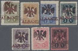 """Albanien - Besonderheiten: 1913, """"PIERRON-ESSAYS"""", Group Of 6 Ottoman Empire Stamps (2 Pa, 5 Pa, 1 P - Albanien"""