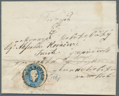 Bosnien Und Herzegowina: 1861, Entire Letter From MOSTAR To Triest, Carried Privately To Metkovic (C - Bosnien-Herzegowina