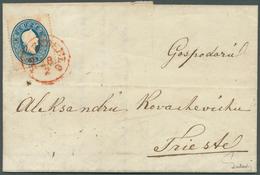 Bosnien Und Herzegowina: 1862, Entire Letter From BRCKO 17 Febr. To Triest, Carried Privately To RAJ - Bosnien-Herzegowina